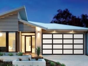 aluminium framed garage door